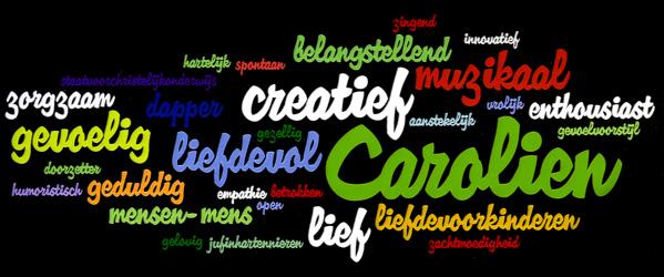 Competenties Carolien aangedragen door collegas